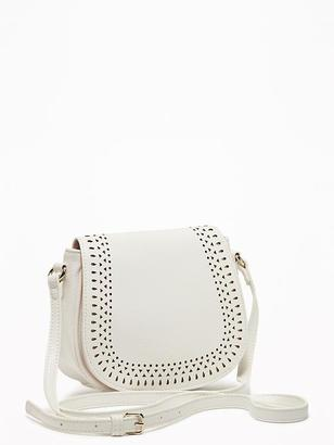 Laser-Cut Mini-Saddle Bag for Women $29.94 thestylecure.com