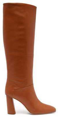 Acne Studios Knee High Leather Boots - Womens - Tan