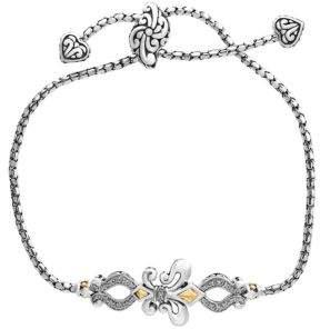 Effy Diamond, 925 Sterling Silver and 18K Yellow Gold Bracelet