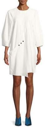 Tibi Washed Viscose Short Dress