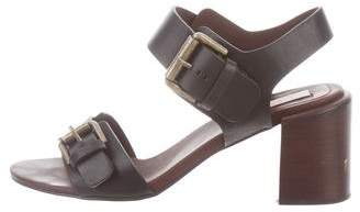 See by Chloe Leather Ankle-Strap Sandals