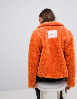 Cheap Monday Function orange teddy jacket