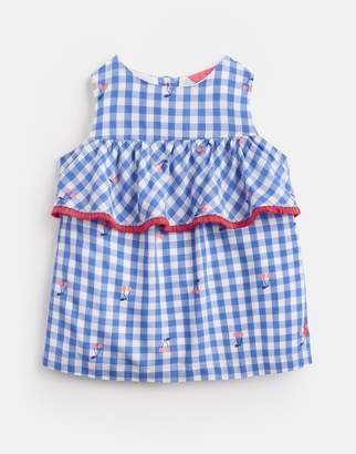Joules BLUE CHERRY GINGHAM Alice Woven Printed Top 1-6 Years Size 2yr