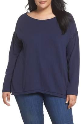 Caslon R Lace Trim Sweatshirt