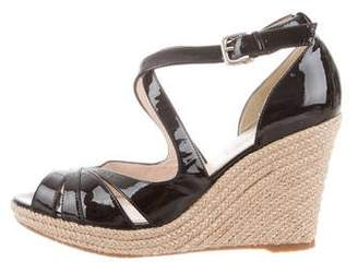 LK Bennett Patent Leather Platform Wedges