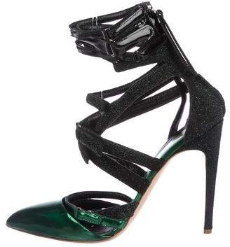 Rupert Sanderson Patent Leather Multi-Strap Pumps