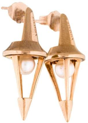 Vita Fede Pearl Titan Caged Earrings
