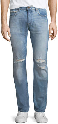 7 For All Mankind Paxtyn Distressed Slim-Straight Jeans