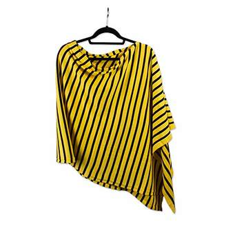 Tickled Pink Accessories Gameday Stripe Cotton Poncho Soft Lightweight College Pullover Wrap All Seasons