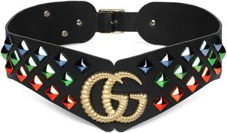 Gucci Double G Studded Leather Belt