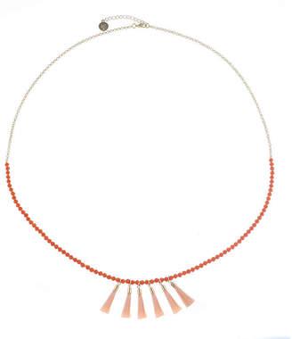 Liz Claiborne Womens Orange Strand Necklace