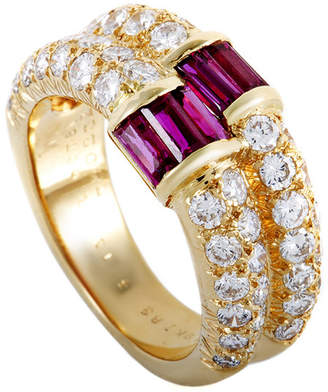 Van Cleef & Arpels Heritage  18K 1.81 Ct. Tw. Diamond & Ruby Ring