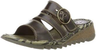 Fly London Thea - Dark Bridle (Leather) Womens Sandals 36 EU