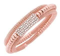 Jessica Simpson Crystal Coil Wrapped Bracelet