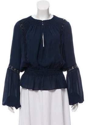 Intermix Silk Long Sleeve Blouse