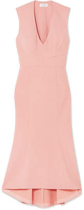 Rebecca Vallance Ravena Lace-up Crepe Midi Dress - Pastel pink