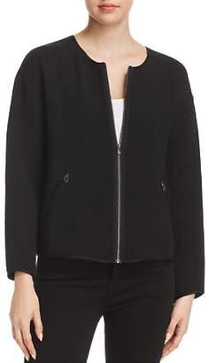 Eileen Fisher Textured Zip Jacket