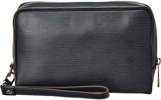 Louis Vuitton Black Epi Leather Neo Hoche Wristlet