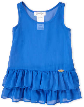 Jessica Simpson Toddler Girls) Blue Sheer Ruffle Cover-Up Tank