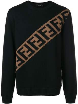 Fendi monogram knit jumper