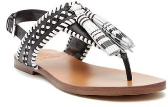 Vince Camuto Rebeka Tassel Leather Thong Sandal