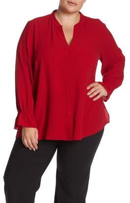 d2166e333256 Eileen Fisher Mandarin Collar Silk Shirt (Plus Size)