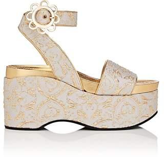 Fabrizio Viti Daisy-Buckle Brocade Platform Sandals Lm1Knd2D