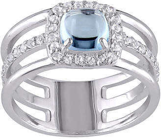 FINE JEWELRY Genuine Blue and White Topaz Split-Band Ring