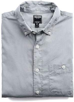 Todd Snyder Garment Dyed Poplin Shirt in Gunmetal