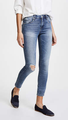 Blank Mid Rise Skinny Ankle Jeans