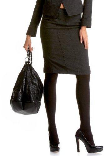 Double Seam Textured Wool Pencil Skirt