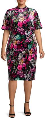 Adrianna Papell Plus Floral Sheath Dress