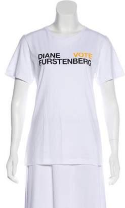 Diane von Furstenberg Short Sleeve Crew Neck T-Shirt w/ Tags