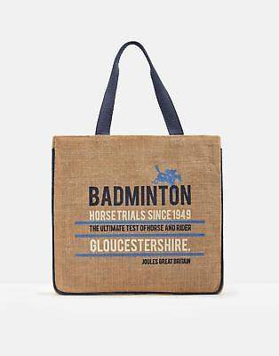 Joules Offical Badminton Tote Bag ONE in Tan in One Size