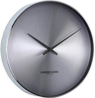London Clock Company Element Silent Wall Clock, Chrome, 28cm