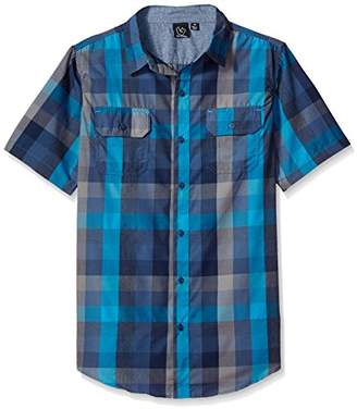 Burnside Men's Detractor Short Sleeve Button Up Printed Shirt