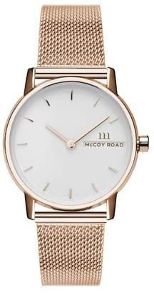 McCoy Road Watches Unisex Mesh Bracelet Watch, 33mm