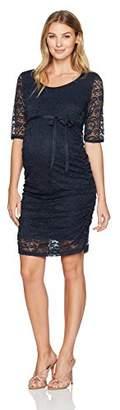 Ripe Maternity Women's Maternity Paisley Lace Dress,S