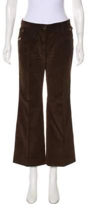 Dolce & Gabbana Mid-Rise Wide-Leg Corduroy Pants