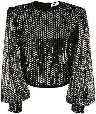 MSGM sequins top
