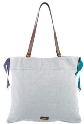 Paul Smith Leather-Trimmed Woven Tote