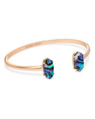 874781084d119e Kendra Scott Edie Rose Gold Cuff Bracelet in Abalone Shell