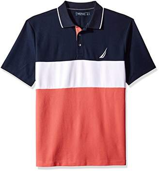 Nautica Men's Classic Fit Short Sleeve Heritage Logo Polo Shirt