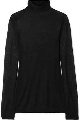 Elizabeth and James Cole Silk And Alpaca-blend Turtleneck Sweater - Black