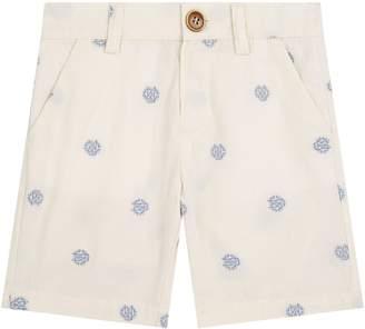 Roberto Cavalli Embroidered Crest Bermuda Shorts