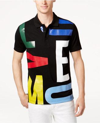 Moschino Men's Graphic-Print Polo Shirt $225 thestylecure.com