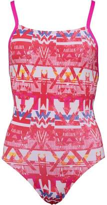 adidas Womens Infinitex+ Thin Straps One Piece Swimsuit Core Pink/White