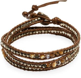 Chan Luu Swarovski Crystal & Semi-Precious Stone Wrap Bracelet