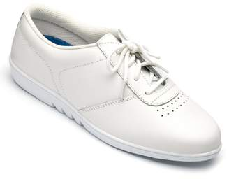 Free-Step Ladies 'Treble' Shoe In White Leather