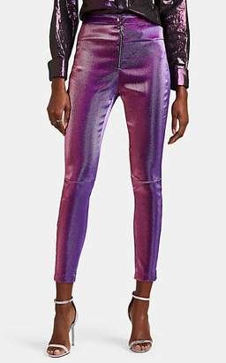 Area Women's Cotton-Blend Lamé Pants - Purple